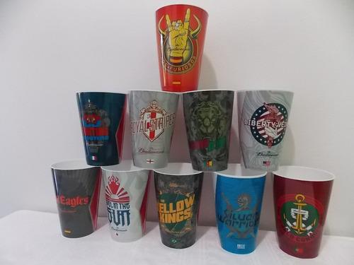 coleção de copos budweiser  oficiais da copa do mundo 2014