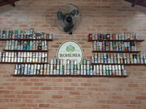 coleção de latinha de cerveja
