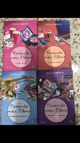 coleção de livros fazendo meu filme