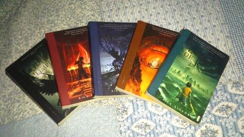 coleção de livros percy jackson e os olimpianos