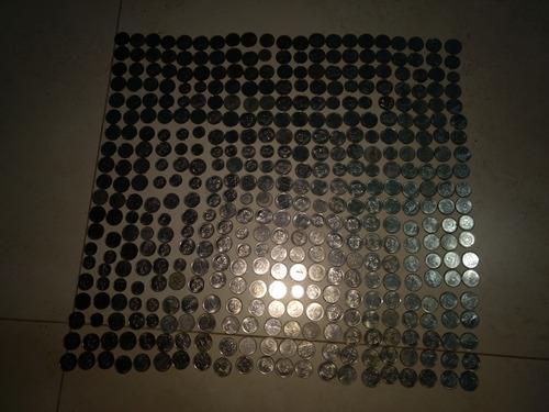 coleção de moedas de varios países com 3400 moedas e 450 not
