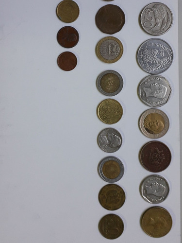 coleção de moedas raras nacionais e estrangeiras