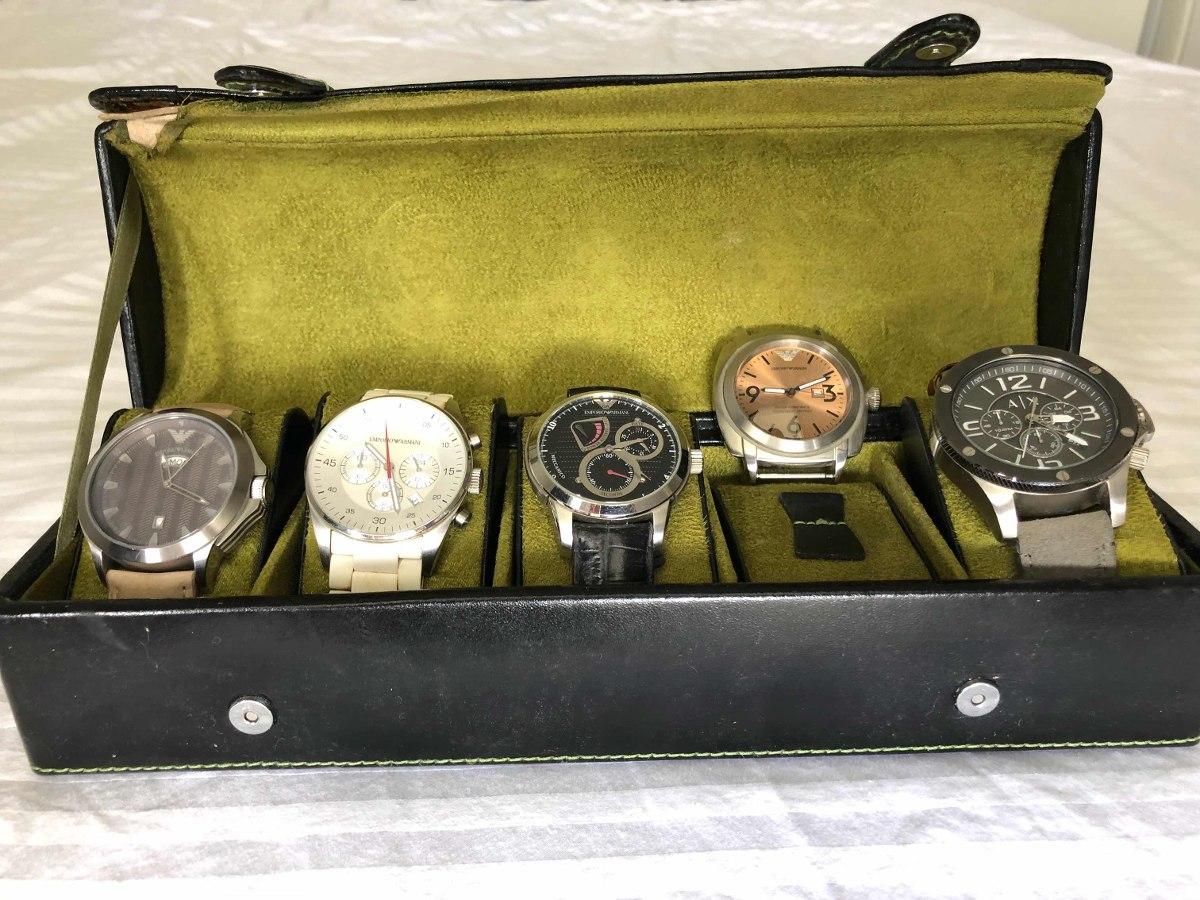 Coleção De Relógios Empório Armani Com Estojo - R  2.500,00 em ... 2c7a2f17db