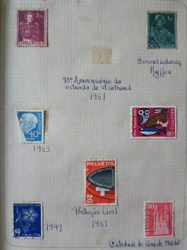 coleção de selos antigos raros completa