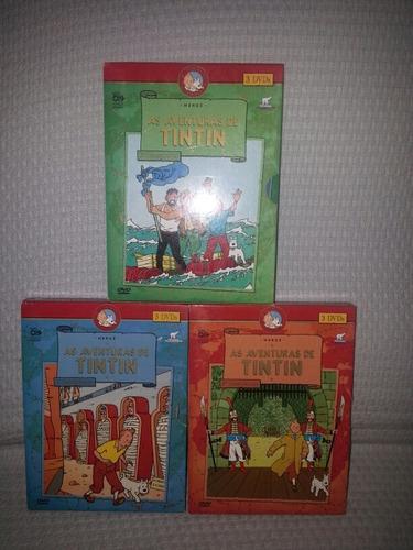 coleção dvd as aventuras de tintin - edição raríssima 9 dvds