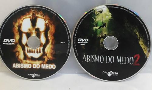 coleção dvds originais do filmes abismo do medo 1 e 2