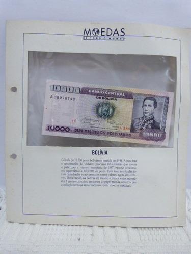 coleção editora globo moedas de todo mundo pais bolivia