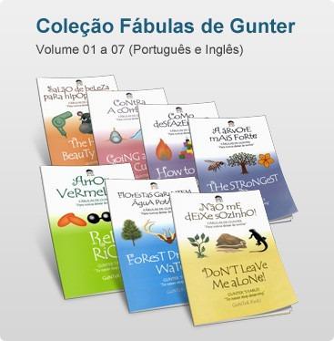 coleção fábulas de gunter - português/inglês - vol. 1 a 14