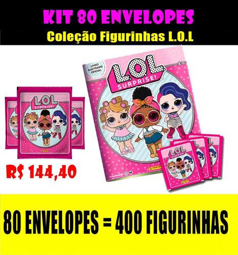 coleção figurinhas lol - 80 envelopes