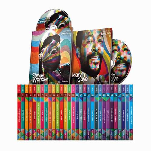 coleção folha soul & blues box com 30 livretos + cd's