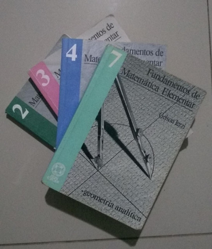 coleção fundamentos da matemática elementar iezzi 4 volumes