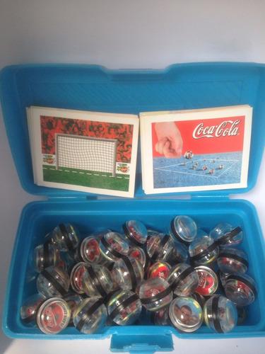 coleção futgudes coca cola - lote