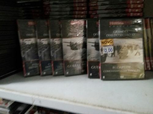 coleção grandes dias do século 9 dvds diversos 12,00 cada