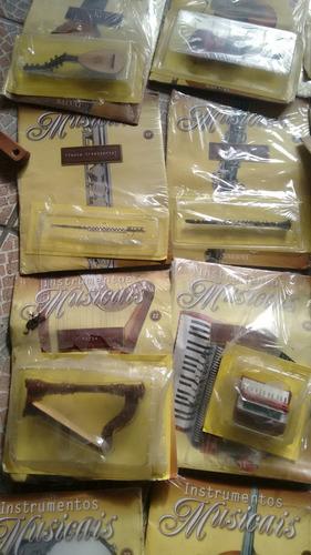 coleção instrumentos musicais miniaturas ed salvat 45,00 cad