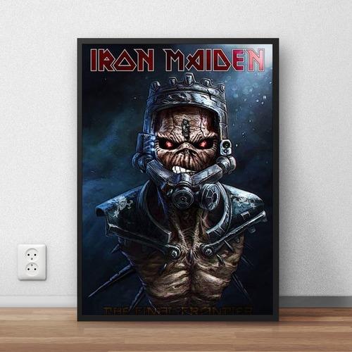 coleção iron maiden quadros decorativos com moldura premium