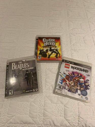 coleção jogos originais rockband / bandhero / guitarhero ps3