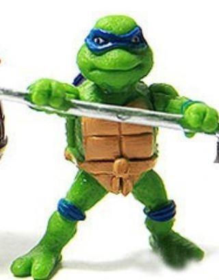 coleção, kit tartaruga ninja pvc, 6 pç - queima de estoque
