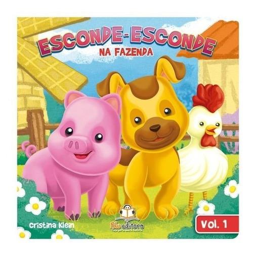 coleção livro infantil esconde-esconde na fazenda 4 volumes