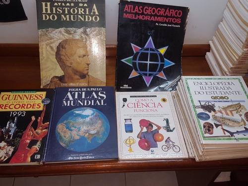 coleção livros objetivo + guinness + atlas + brindes