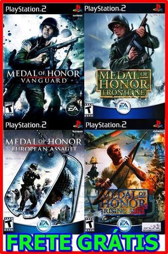 coleção medalha de honra 4 jogos ps2 pacth + frete grátis !!