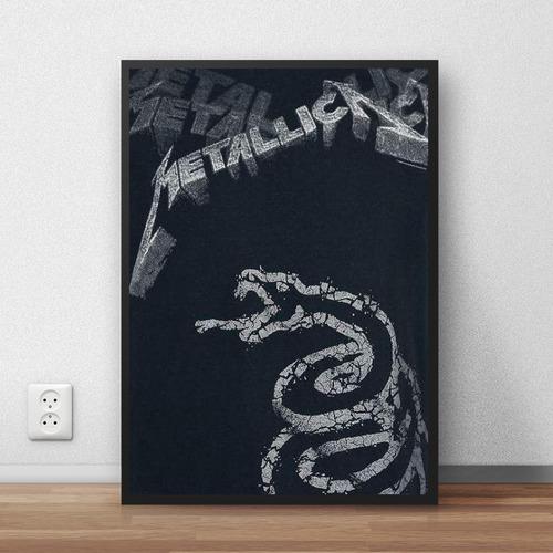 coleção metallica  quadros decorativos com moldura premium