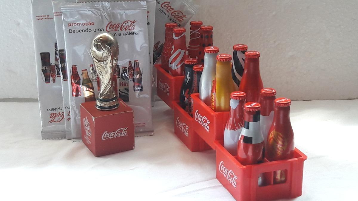 Coleção Mini Garrafinha Coca-cola Da Galera+engradado E Taça - R ...