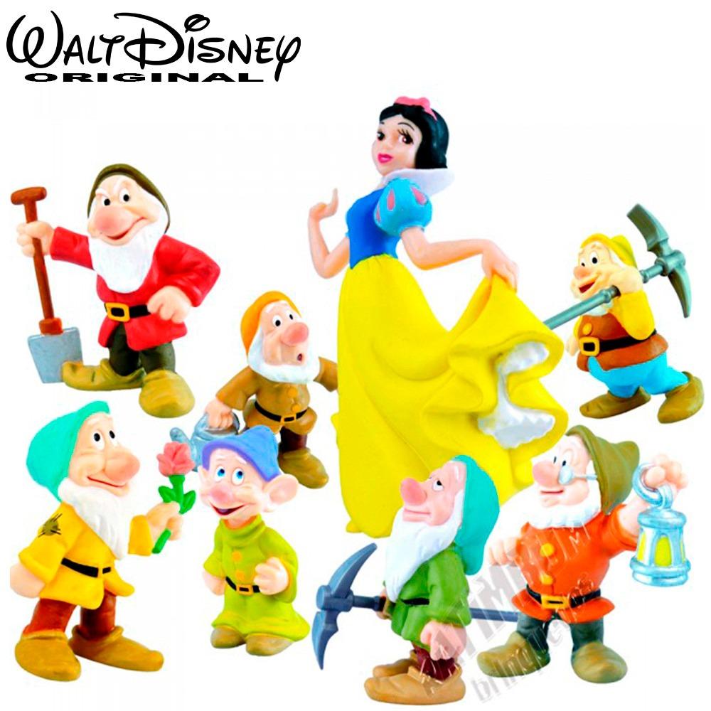 Coleção Miniaturas Disney Branca De Neve E Os Sete Anões