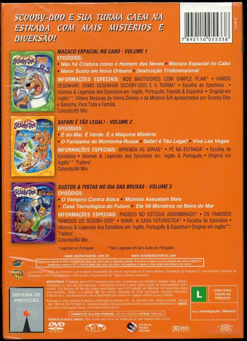 Colecao O Que Ha De Novo Scooby Doo Box 3 Dvds Lacrado R 60