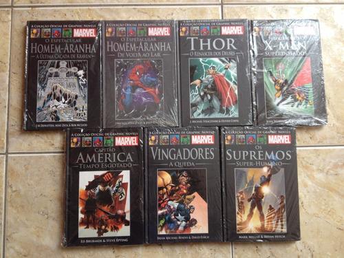coleção oficial graphic novels - marvel - novos - consulte