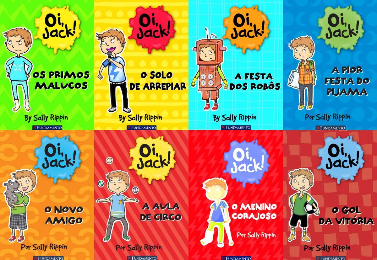 a903566544f34 Coleção Oi, Jack! 8 Livros - Até 7 Anos - R  176,00 em Mercado Livre