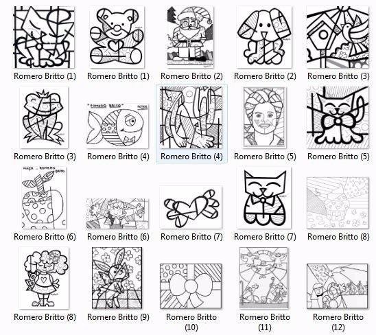 Colecao Para Colorir 42 Desenhos Tema Romero Britto Imprima R