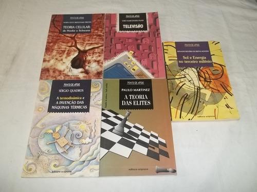 coleção ponto de apoio  lote 30 livros paradidaticos fotos