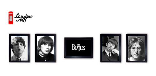 coleção quadros the beatles completa com muldura premium