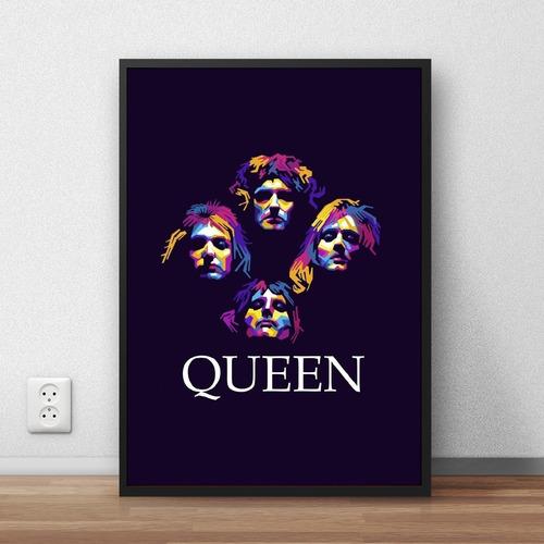 coleção queen quadros decorativos com moldura a4 premium