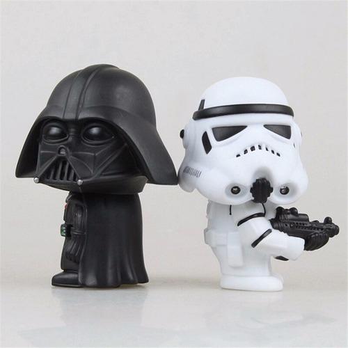 coleção star wars - 2 pcs - darth vader e troops - raridade!