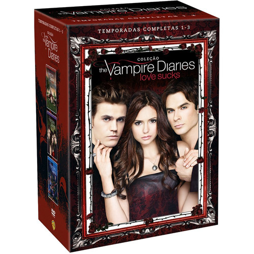 coleção the vampire diaries love sucks 15(dvds) frete grátis