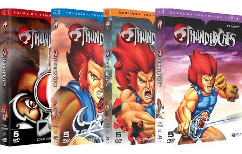 coleção thundercats - a série completa - 20 dvds