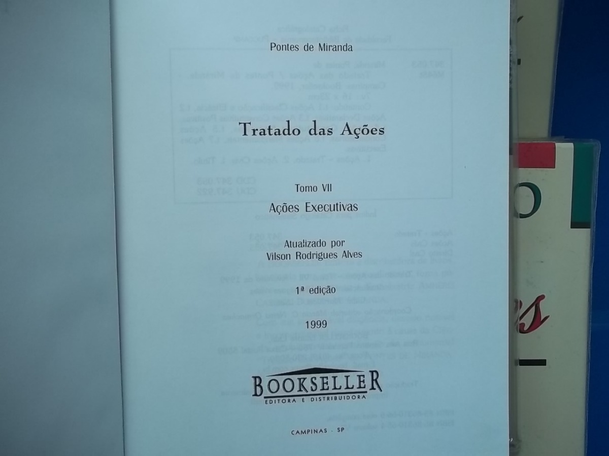 3b047988ef Coleção Tratado Das Ações Pontes De Miranda Direito Civil - R  589 ...