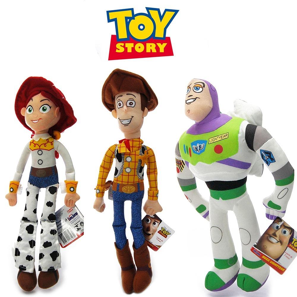 Cole o trio disney bonecos toy story woody jessie buzz r 142 90 em mercado livre - Cochon de toy story ...