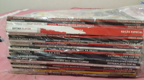 coleçoes revistas guitar players