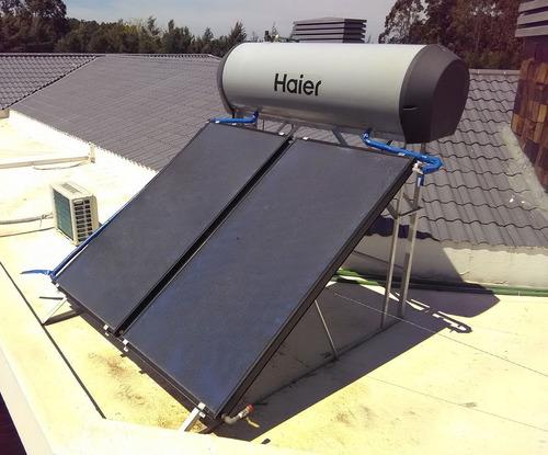 colector calentador plan solar techo agua ute haier 300 lts