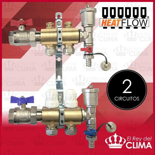 colector de 2 vias heat flow super completo - el mejor