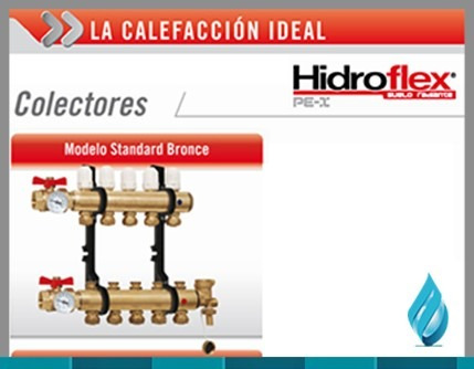 colector de calefacción 6 ciruitos hidroflex
