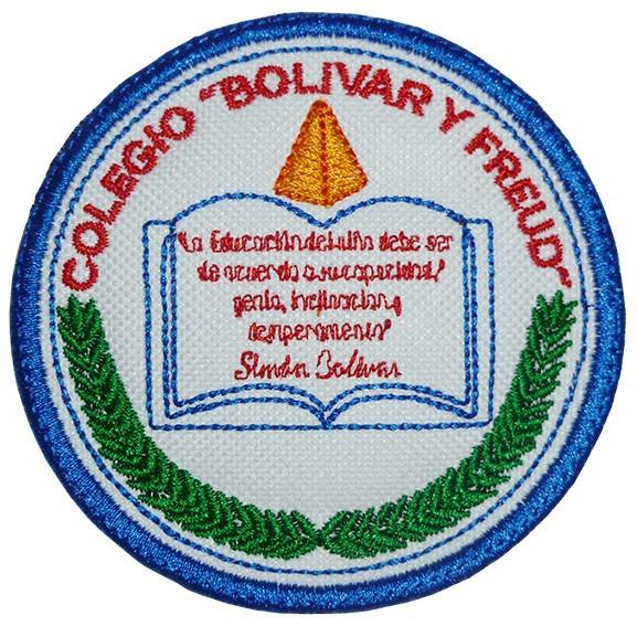 colegio bolivar y freud insignias bordadas bs