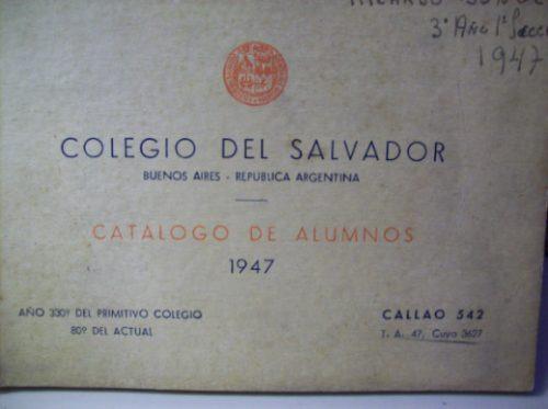 colegio del salvador catalogo alumnos año 1947