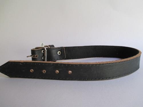 coleira cachorro couro nº 8 fivela de ferro preta forrada