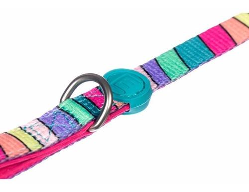 coleira peitoral cachorro guia personalizada m colorida