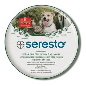 Coleira Seresto P Cães E Gatos Até 8kg Validade 04/2023