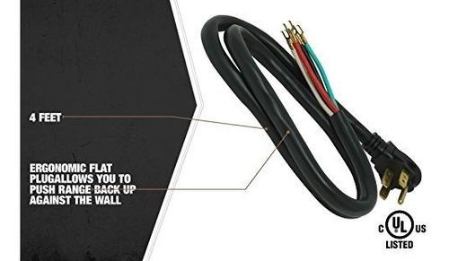 coleman cable 09044 4foot 50amp cable de alimentacion 4wire