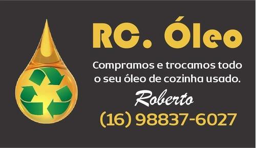 coleta de óleo de fritura usado. trocamos ou compramos.
